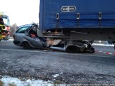 Ongeval A2 Vrachtoauto-Auto 073