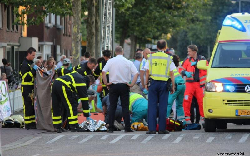 Brandweer assisteert ambulance bij valpartij Tour d'Oospel