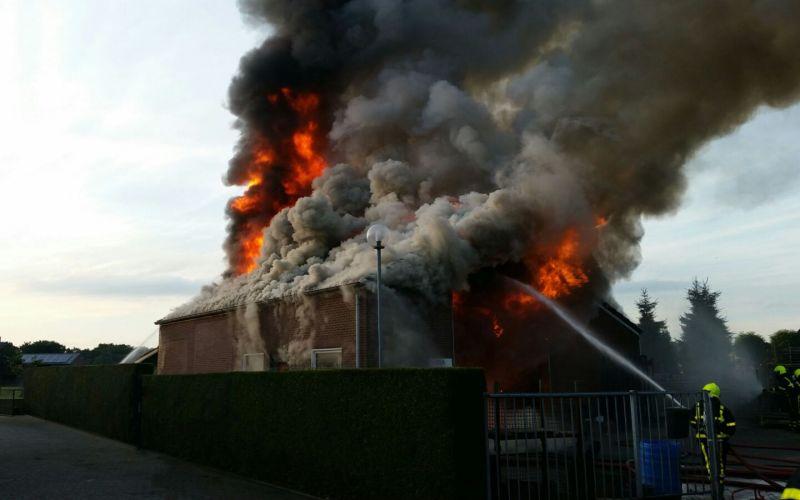 Flinke brand in Nederweert-Eind