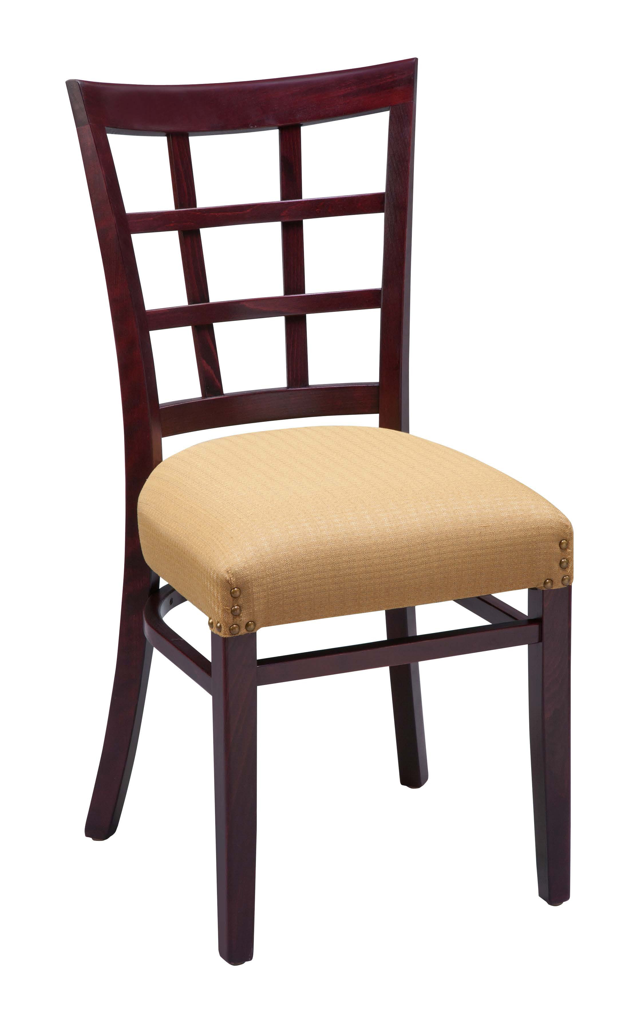 metal kitchen chairs target reclining adirondack regal 411fus lattice back wood dining chair by