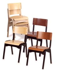 Holsag - Carlo Wood Stacking Chair, Stacking Chairs by ...