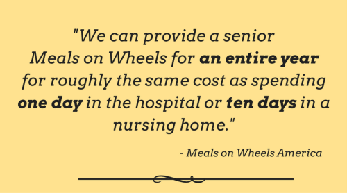 Meals on Wheels is cost efficient - Branson-Hollister Senior Center