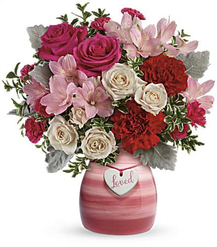 vintage heart bouquet teleflora