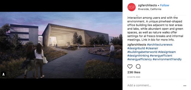 Architect social media ideas