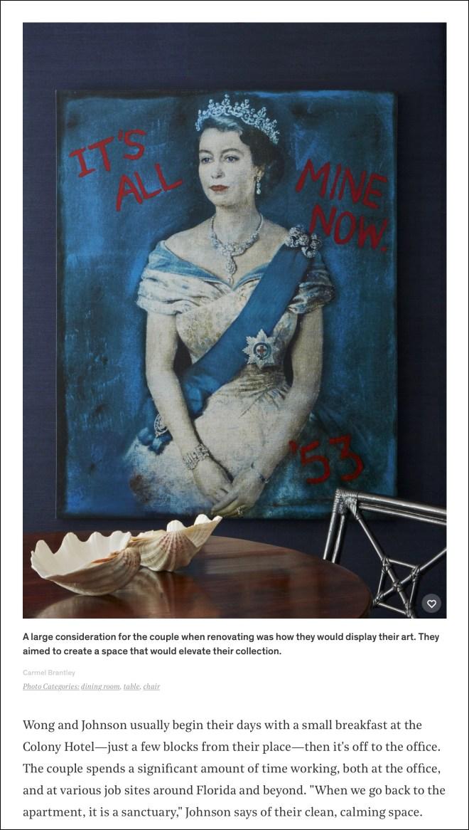 Art display at Palm Beach home