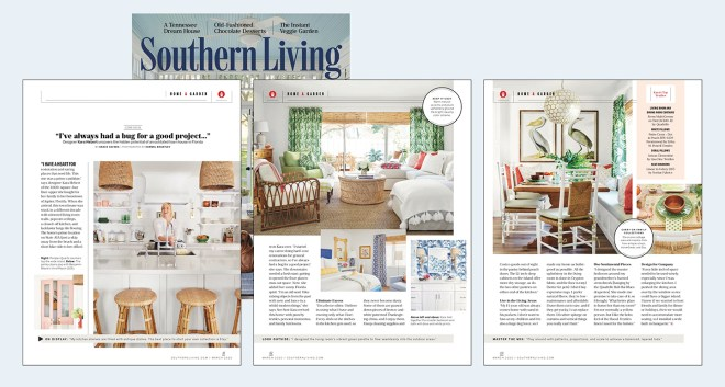 Southern Living Magazine interior design feature