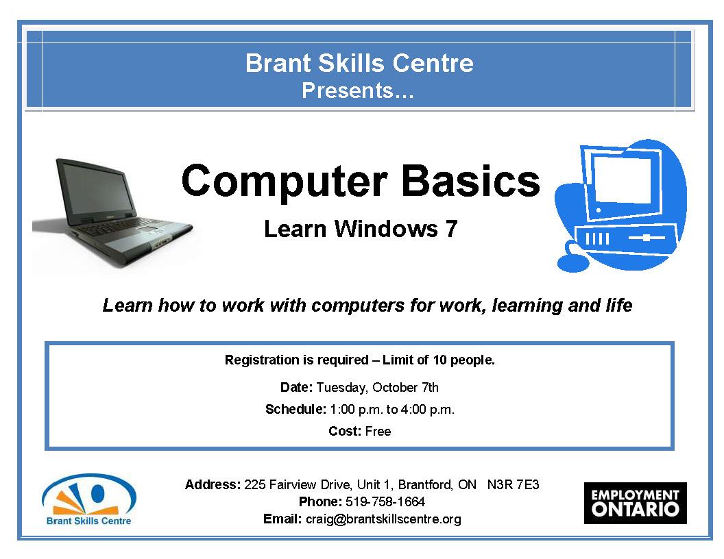 Computer Basics Full Brant Skills Centre