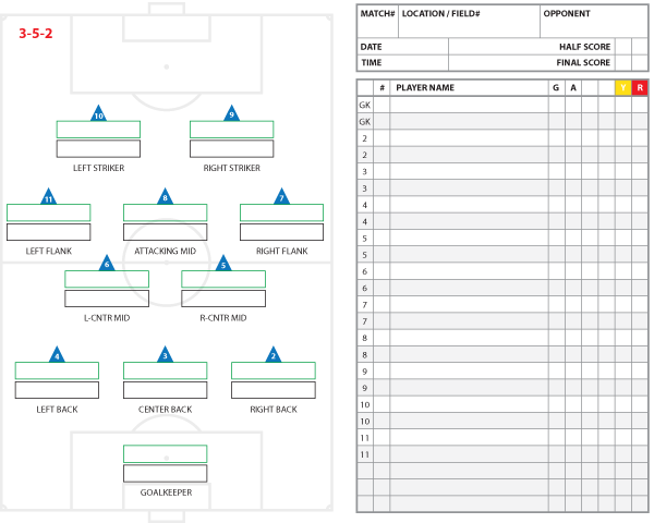 soccer formations and systems