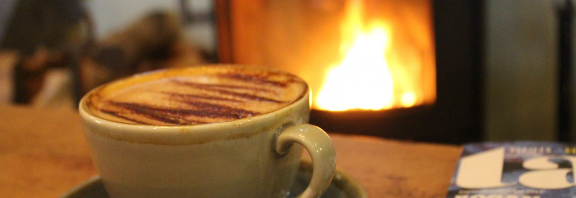 Coffee infront of fire