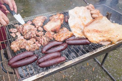 Las achuras a la parrilla, en los asados argentinos
