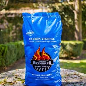 Carbón vegetal encina calidad premium 17kg jardín