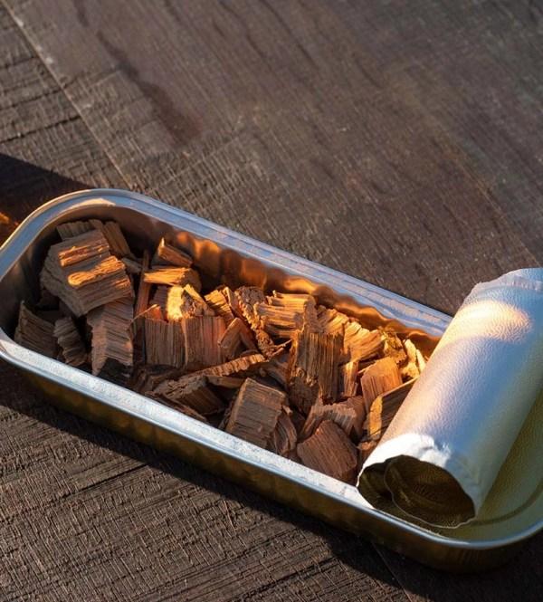 Bandeja de aluminio para ahumar Aluminium Tray Chips Mr. Barrel