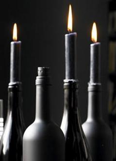 garrafa vela preta