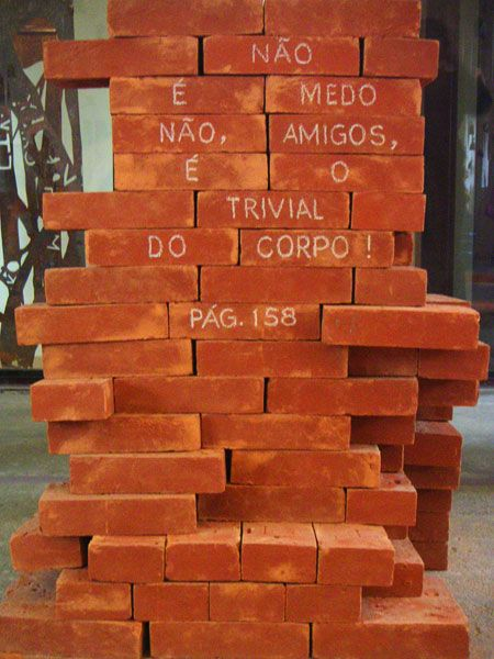 Detalle del Museo de la Lengua Portuguesa de São Paulo.