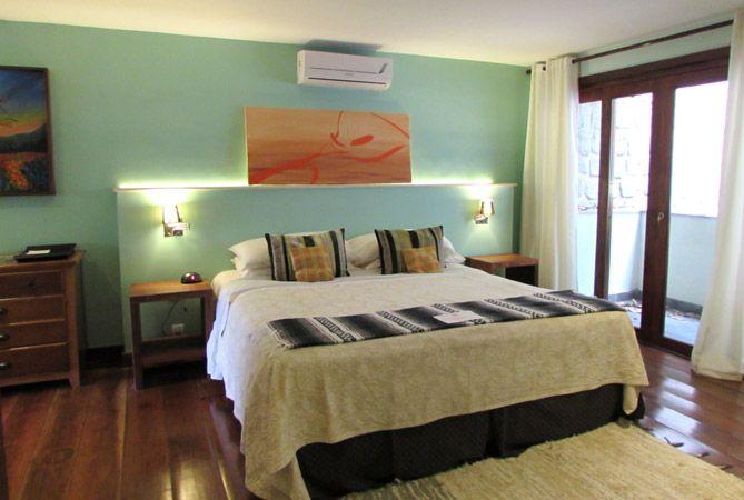 Una de las habitaciones de Casa Verde. Foto: Virtudes Sánchez