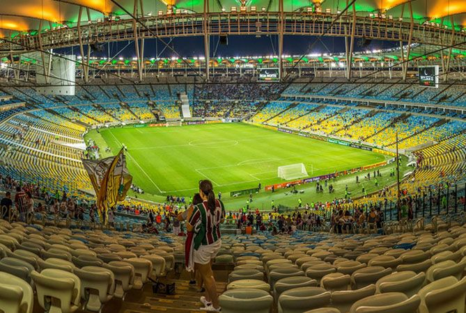 Interior del estadio Maracaná.