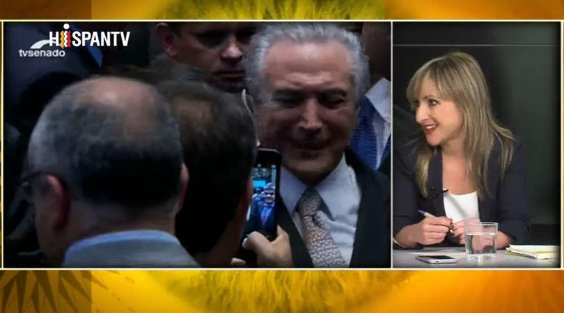 Tertulia sobre las medidas de ajuste y la corrupción de Brasil en Hispan TV.