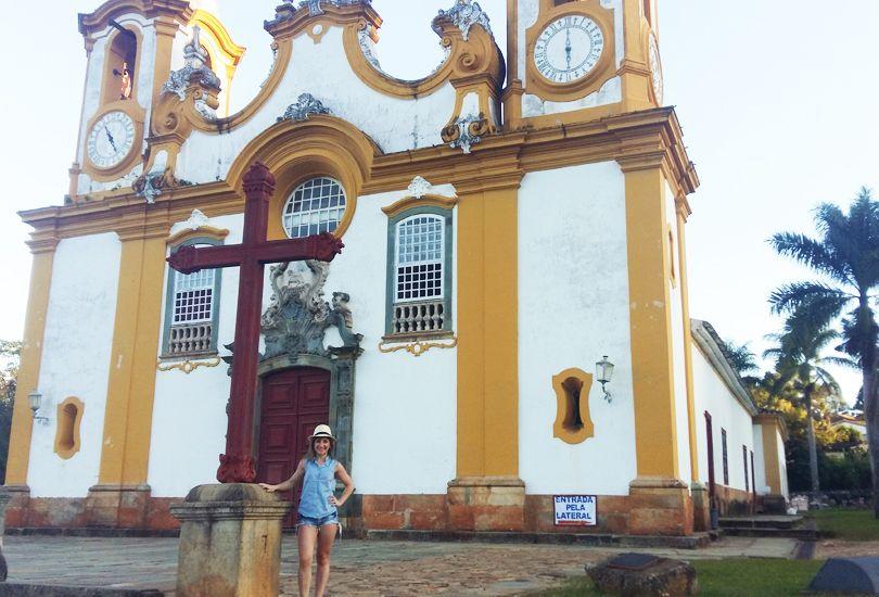 Fachada de la igreja matriz de Santo Antônio en Tiradentes. Foto: Virtudes Sánchez