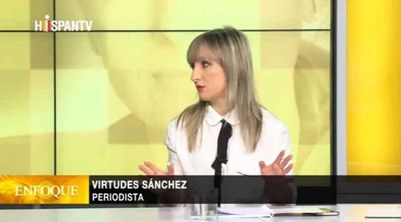 Virtudes Sánchez en el programa 'Enfoque' de Hispan TV sobre la reforma de las pensiones en Brasil.