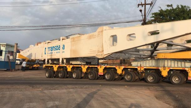 Transporte de turbo gerador com 355 toneladas vai interditar a BR- 135, no Maranhão