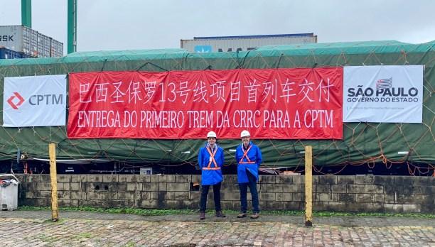 Novos trens chineses da CPTM desembarcam no Porto de Santos
