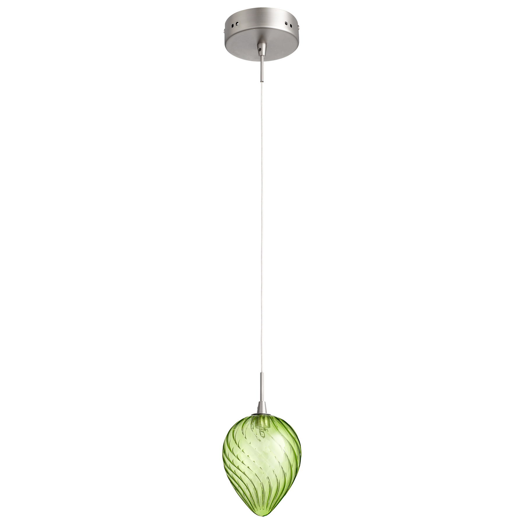 Lime Green Glass Pendant Light