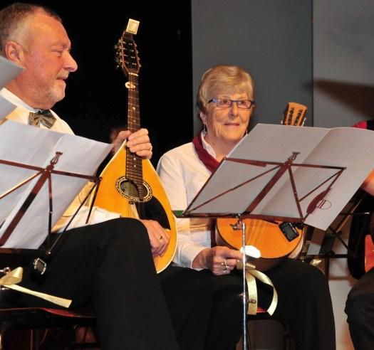 Mandola's tijdens het jubileumconcert voor 50-jarig dirigentschap Marcel De Cauwer