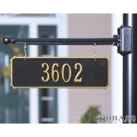 Lamp Post With Address Plaque. HANGING House Numbers ...