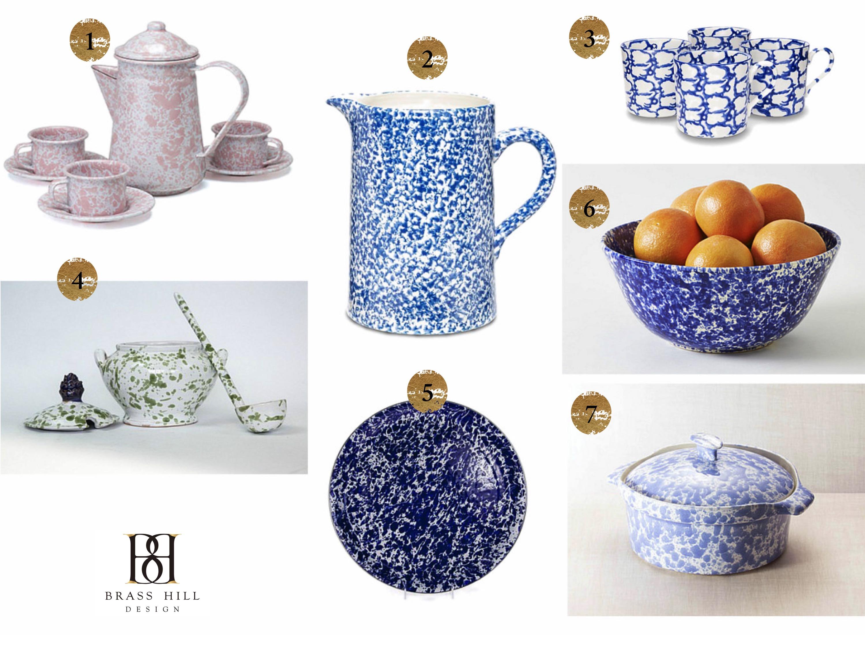 Spatterware Shopping Picks Brass Hill Design