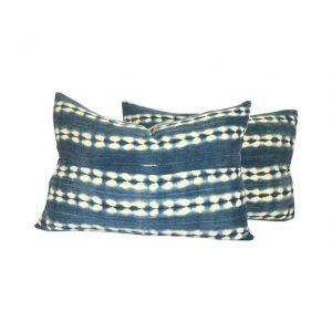 African Indigo Lumbar Pillows, $480