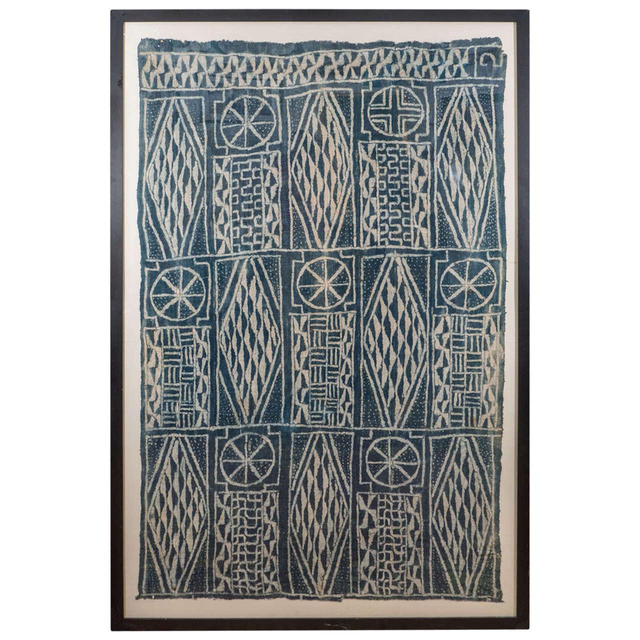 76x51 Framed Cameroon Cloth, $3,500