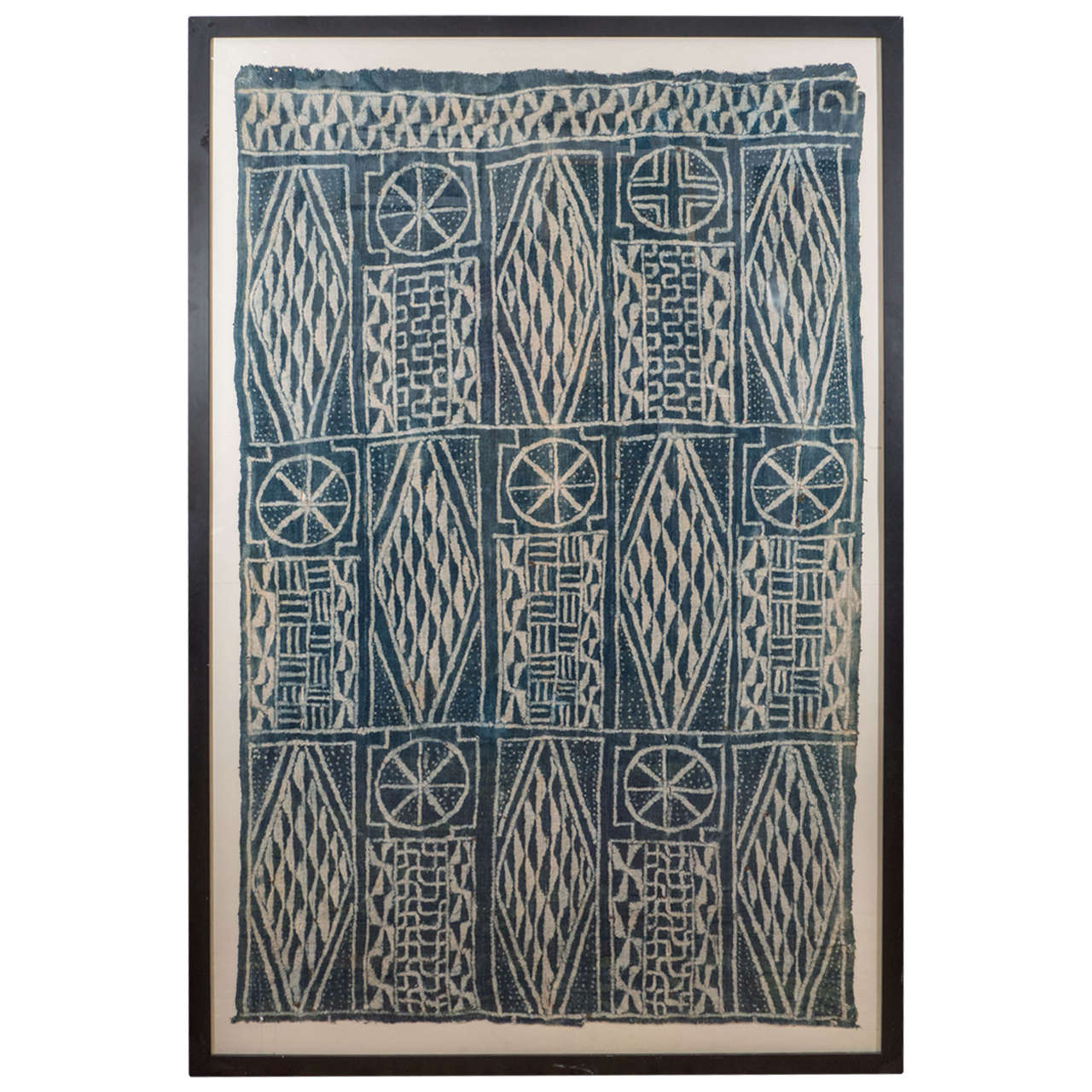 76x51 Framed Cameroon Cloth, $3,500
