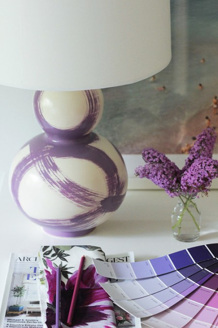 Jana Bek's Brushstroke Lamp in Lilac
