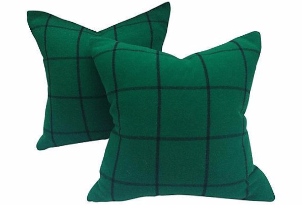 Ralph Lauren Windowpane Pillows via Treasure Trove, $495