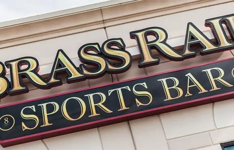 brass rail sports bar sign