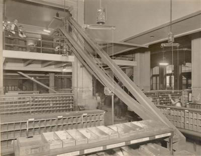 Phil post office tray dispatching - receiving station