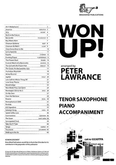 Won Up Tenor Sax PA