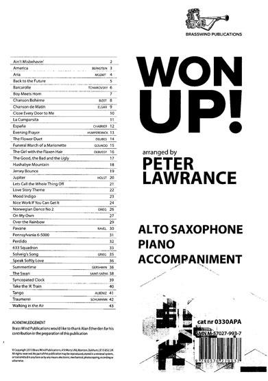 Won Up Alto Sax PA