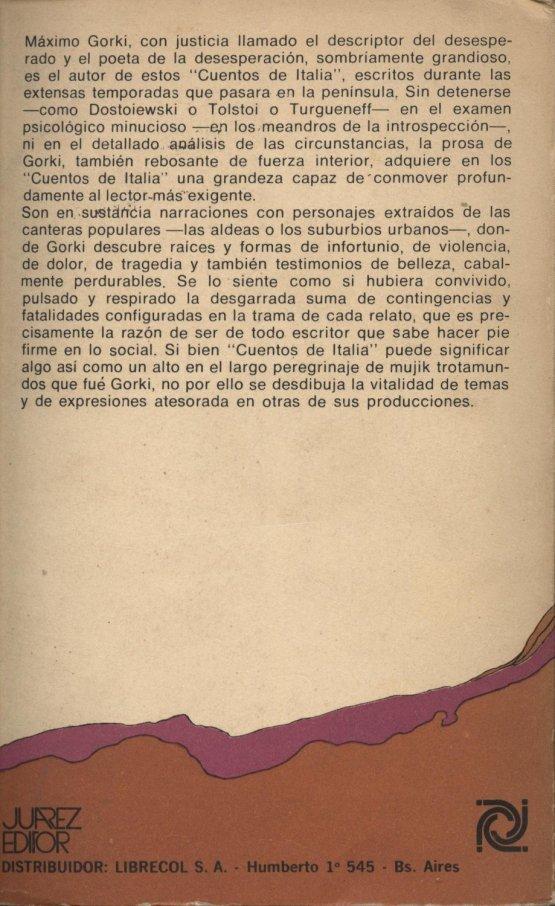 Venda online de llibres d'ocasió com Cuentos de Italia - Maxim Gorki a bratac.cat