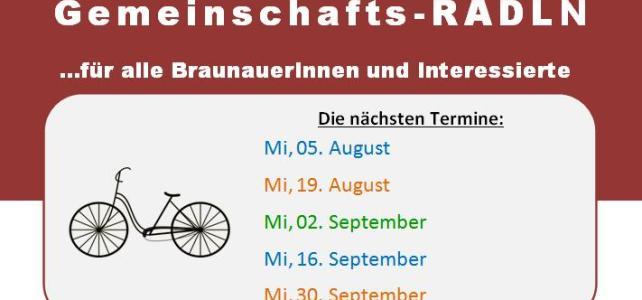 """Vereinsnews: """"Gemeinschafts-RADLN"""", Stadtoase, Glühweinhütte, Fahrradbasar …"""