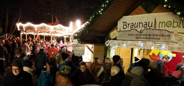 """""""Braunau mobil"""" auf dem Braunauer Christkindlmarkt 2019"""