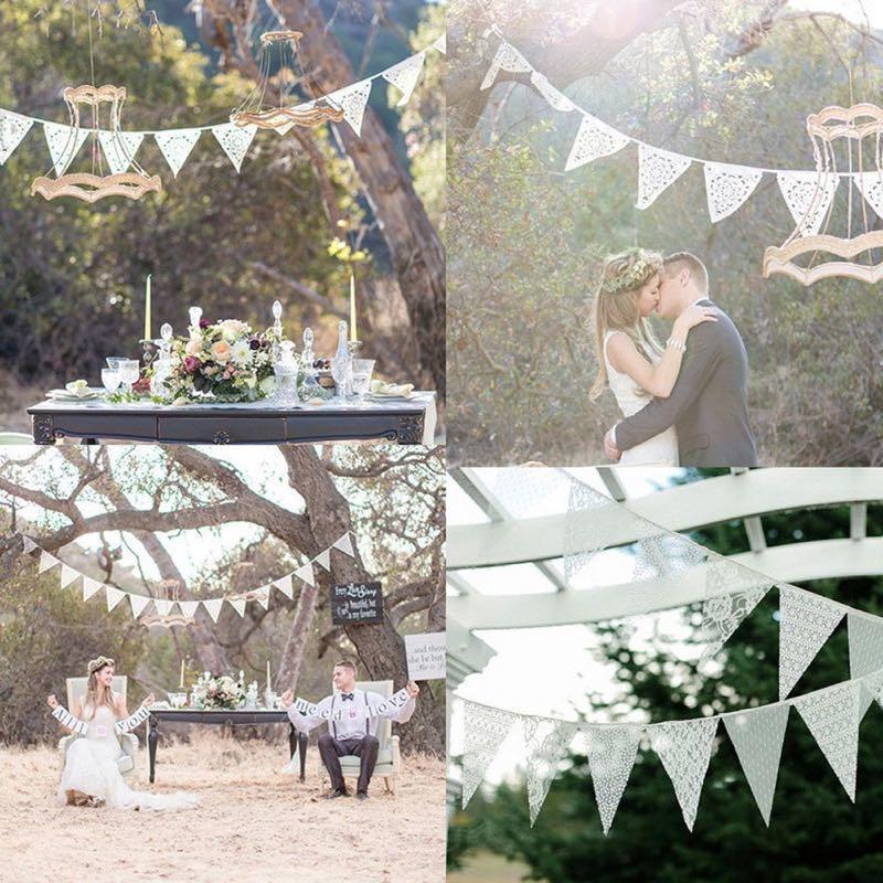 Wimpelkette Spitze  Heiraten mit brautde