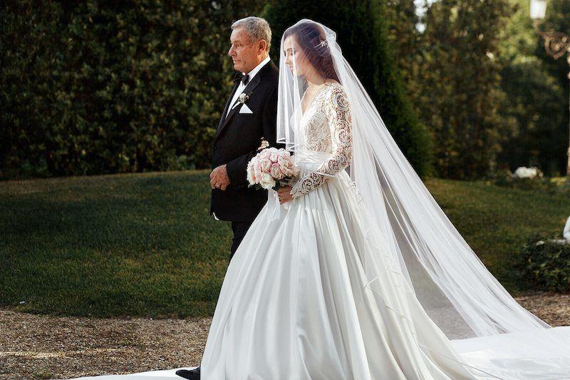 Brautvater Fhrt Braut Rechts
