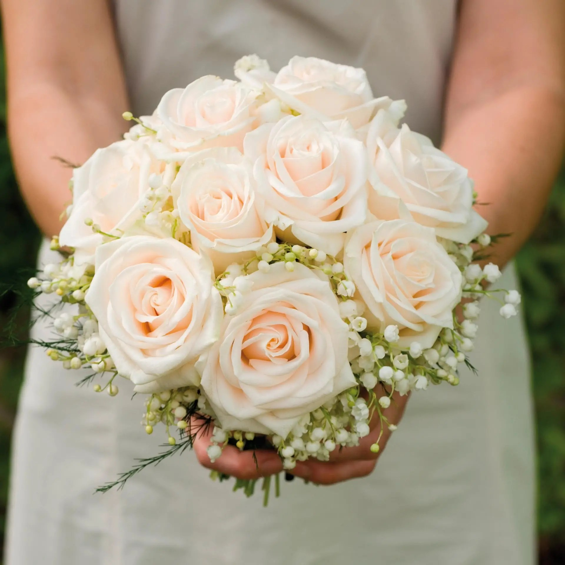 Brautstrau aus Rosen und Maiglckchen  Heiraten mit brautde