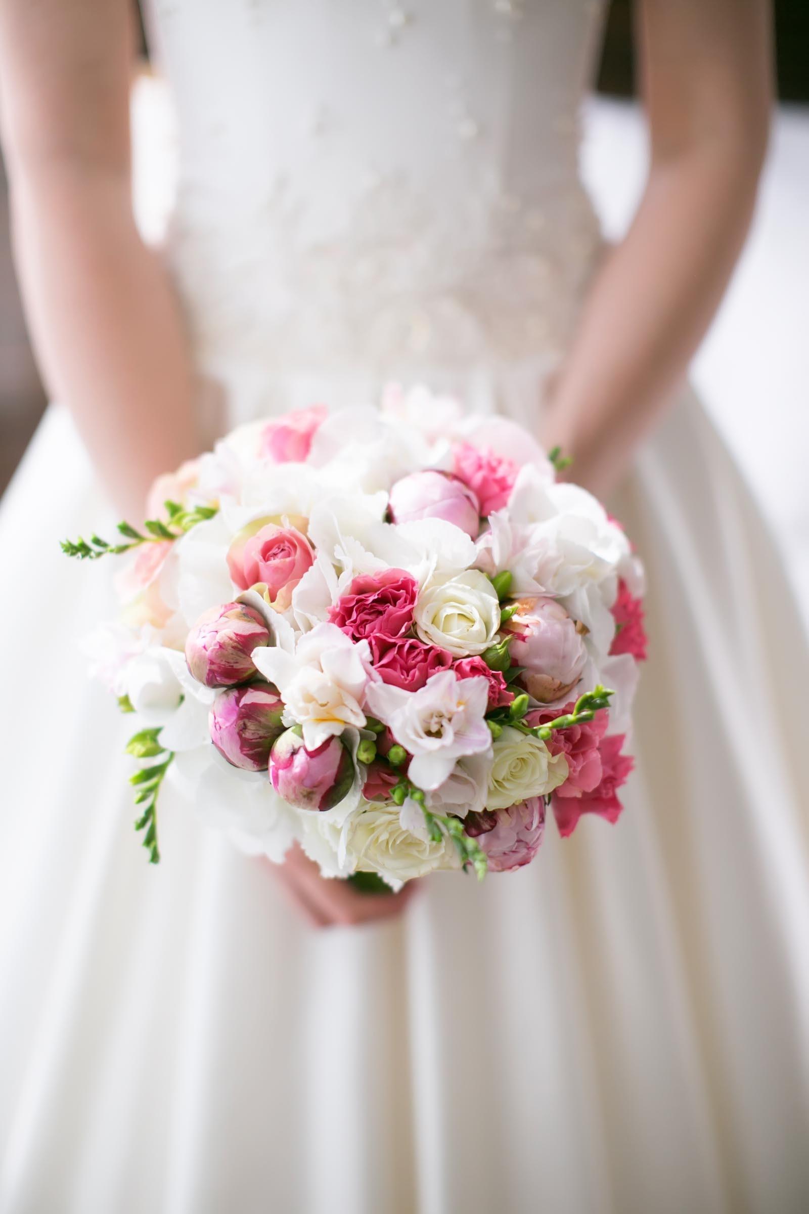 Brautstrau in Rosa und Wei  Heiraten mit brautde