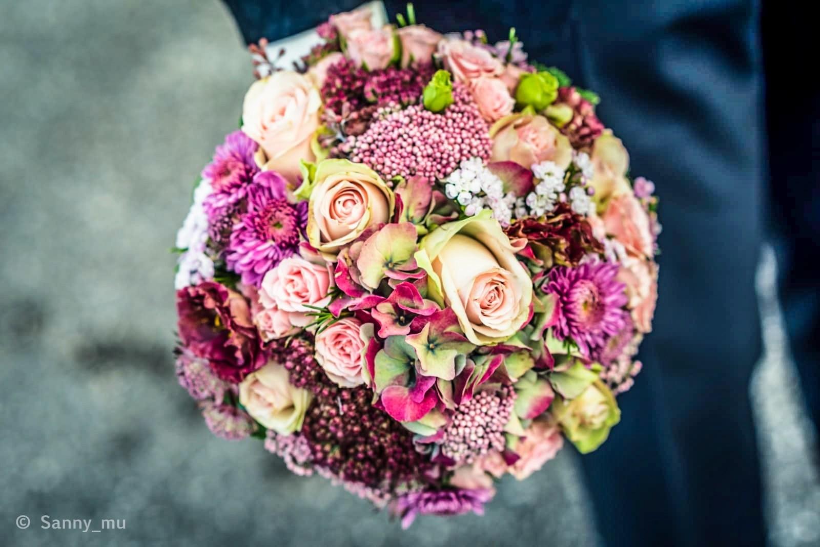 Brautstrau in Herbstfarben  Heiraten mit brautde