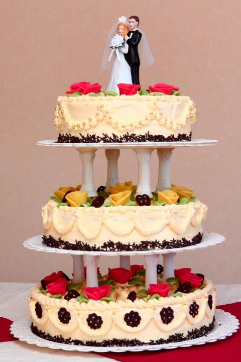 Die Hochzeitstorte  kulinarischer Hhepunkt der Feier