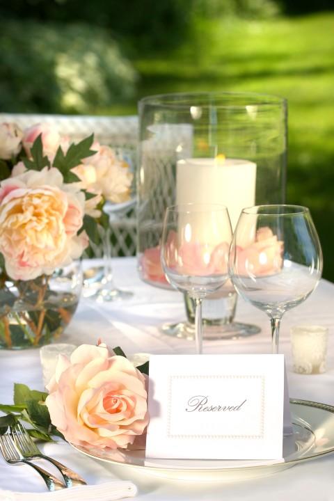 Hochzeitsdeko Federn