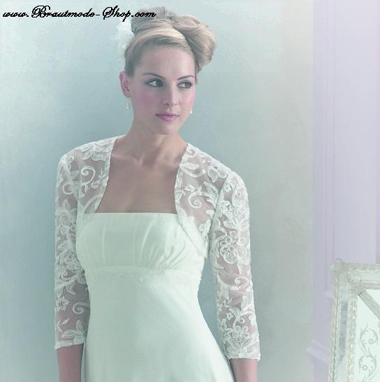 Bolero Jacke Für Die Braut Aus Spitze Brautmode Shop Com Braut