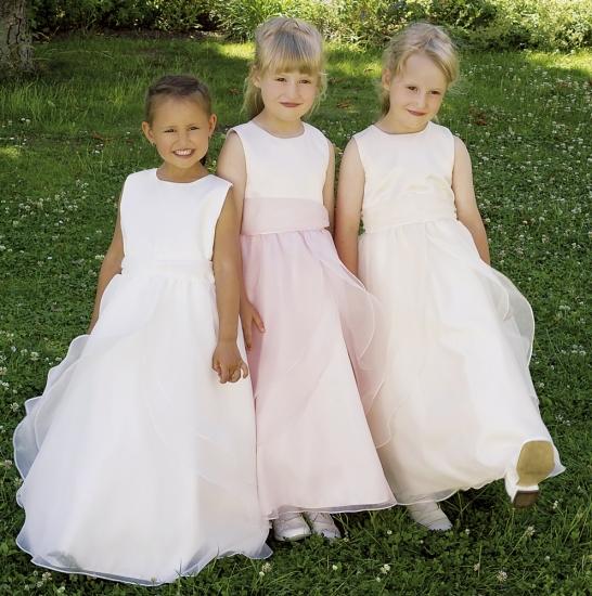 Satin Kinderkleider Kinderfestmode